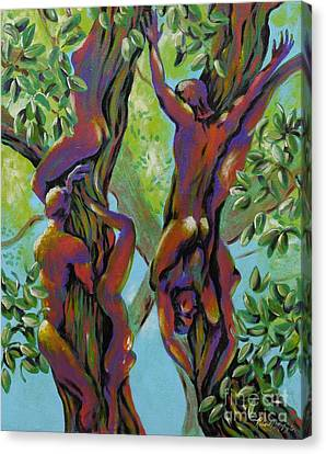 Canvas Print featuring the painting Think Like A Tree by Robert D McBain