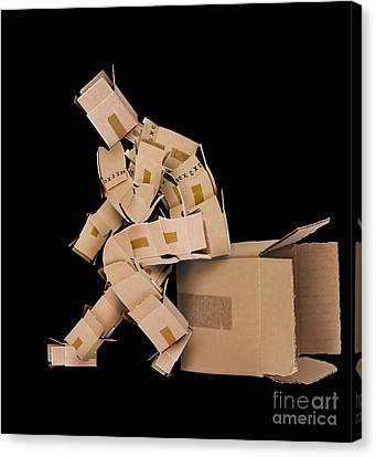 Cardboard Canvas Print - Think Outside The Box Concept by Simon Bratt Photography LRPS