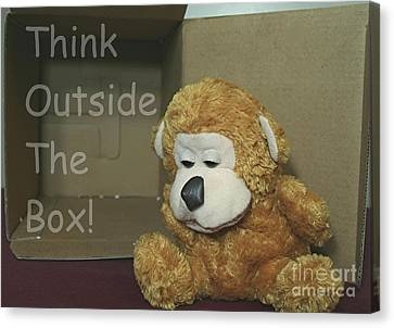 Different Stuff Canvas Print - Think Outside The Box by Stephen Thomas
