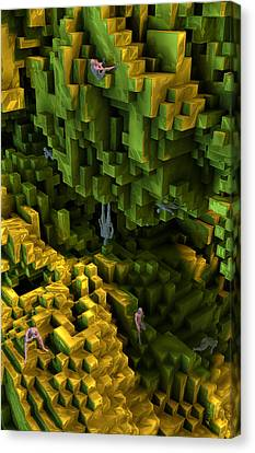 Canvas Print featuring the digital art Thinkers And Explorers by Matt Lindley