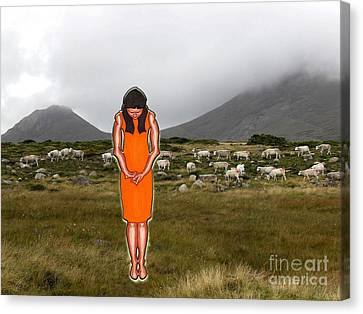 Thinking About The Shepherd Canvas Print by Patrick J Murphy