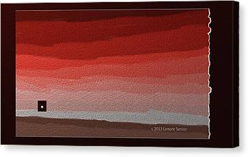 Thinking Inside The Box Canvas Print by Lenore Senior