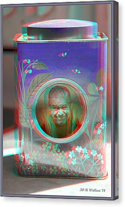 Thinking Inside The Box - Red/cyan Filtered 3d Glasses Required Canvas Print by Brian Wallace