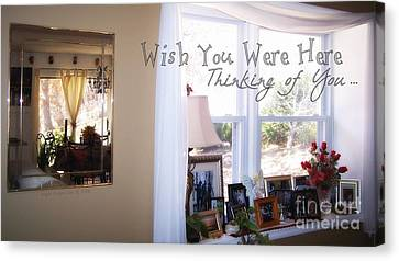 Missing Child Canvas Print - Thinking Of You by Angelia Hodges Clay