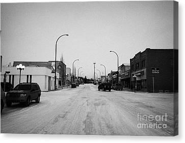 third avenue main street through Kamsack Saskatchewan Canada Canvas Print by Joe Fox