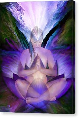 Third Eye Chakra Goddess Canvas Print by Carol Cavalaris