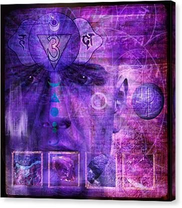 Third Eye Chakra Canvas Print by Mark Preston