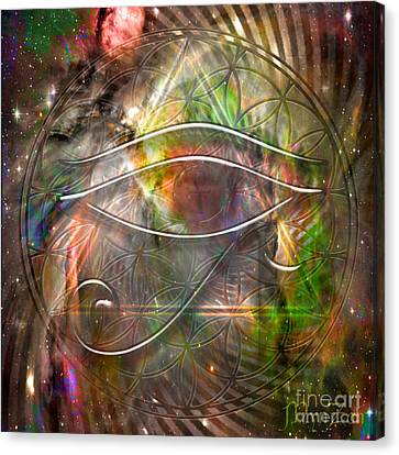 Third Eye Canvas Print by Mynzah Osiris