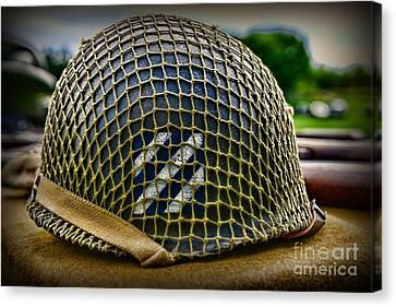 Third Infantry Division Helmet Canvas Print