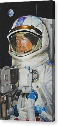 Thirteens Dream- Jim Lovell  Canvas Print by Simon Kregar