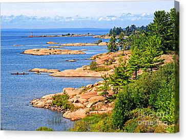 Thirty Thousand Islands Canvas Print by Charline Xia