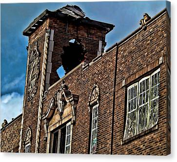 This Building Is History Canvas Print by Kristie  Bonnewell