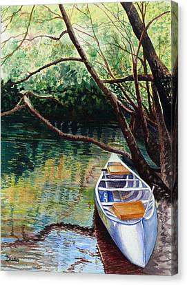 This Canoe Is Waiting For You Canvas Print