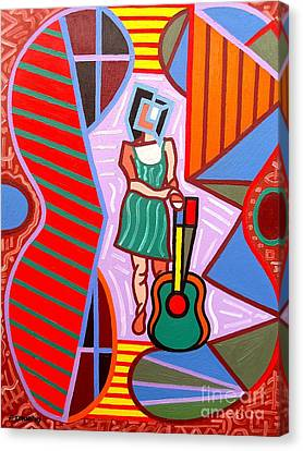 This Guitar Is More Than An Instrument Canvas Print by Patrick J Murphy