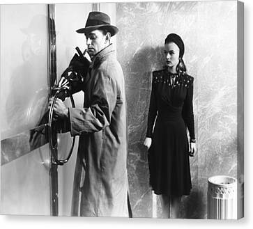 This Gun For Hire, From Left, Alan Canvas Print by Everett