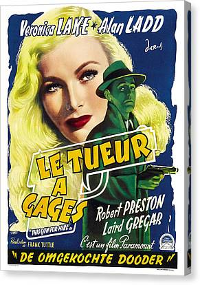 This Guns For Hire, Veronica Lake, Alan Canvas Print by Everett