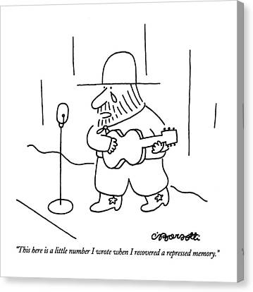 This Here Is A Little Number I Wrote When Canvas Print by Charles Barsotti