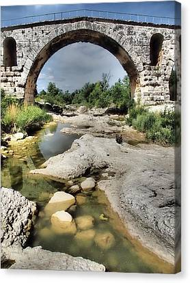 This Is A Roman Bridge, Called Pont Canvas Print