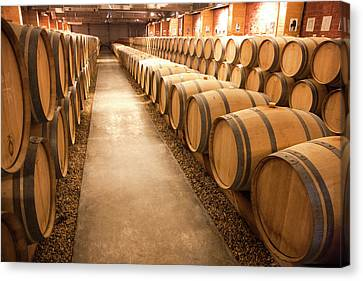 This Is A Storage Area For Wine Canvas Print by Mallorie Ostrowitz