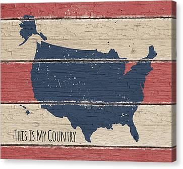 This Is My Country Canvas Print