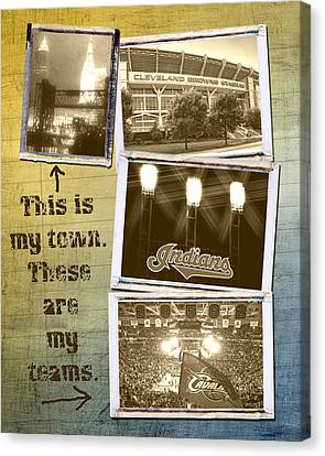 This Is My Town These Are My Teams Canvas Print by Kenneth Krolikowski
