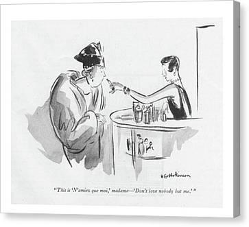 Matron Canvas Print - This Is 'n'aimez Que Moi by Helen E. Hokinson
