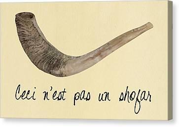 This Is Not A Shofar Canvas Print by Anshie Kagan