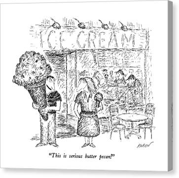 This Is Serious Butter Pecan! Canvas Print by Edward Koren