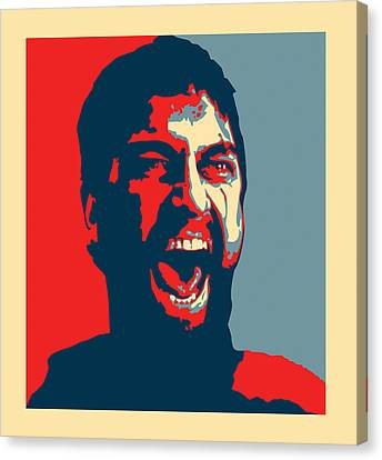 Barack Obama Canvas Print - This Is Sparta by Allan Swart