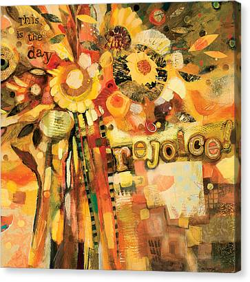 This Is The Day To Rejoice Canvas Print by Jen Norton