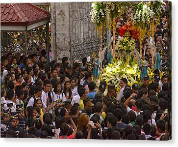 This Is The Philippines No.65 - Santo Nino Entering The Basilica Canvas Print