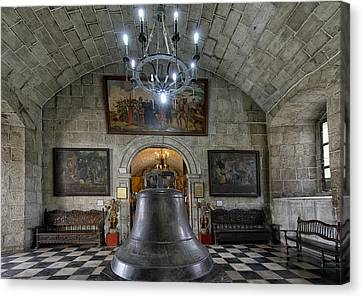 This Is The Philippines No.89 - San Agustin Church Bell Canvas Print by Paul W Sharpe Aka Wizard of Wonders