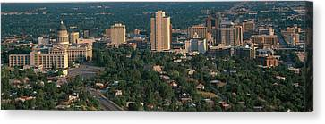 This Is The State Capitol And Skyline Canvas Print