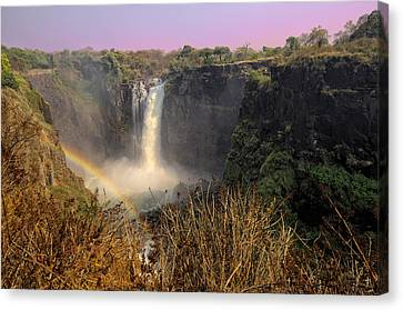 This Is Zimbabwe No.  1 - Thundering Victoria Falls Canvas Print by Paul W Sharpe Aka Wizard of Wonders