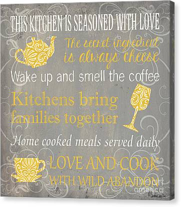 This Kitchen Is Seasoned With Love Canvas Print by Debbie DeWitt