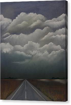 This Menacing Sky Canvas Print by Cynthia Lassiter