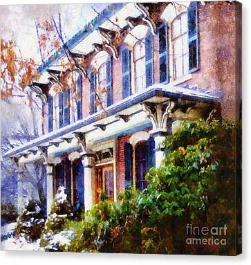 This Old Colonial House  Canvas Print by Janine Riley