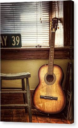 This Old Guitar Canvas Print by Scott Norris