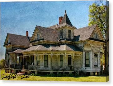 This Old House Canvas Print by Joan Bertucci