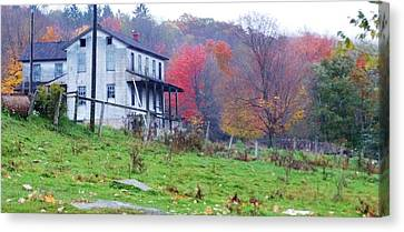 Abandoned Houses Canvas Print - This Old House by Sherry Brant