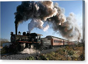 Train Canvas Print - This Old Train  by Marvin Blaine