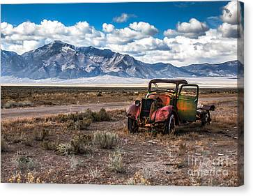 Haybale Canvas Print - This Old Truck by Robert Bales
