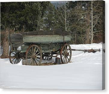 This Old Wagon Canvas Print by Steven Parker