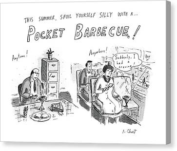 Barbecue Canvas Print - 'this Summer by Roz Chast