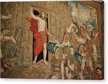Tapestries - Textiles Canvas Print - This Tapestry Is Of The Resurrection by Jan and Stoney Edwards
