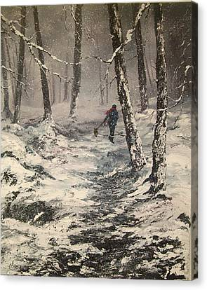 Cannock Chase Canvas Print - This Way by Jean Walker