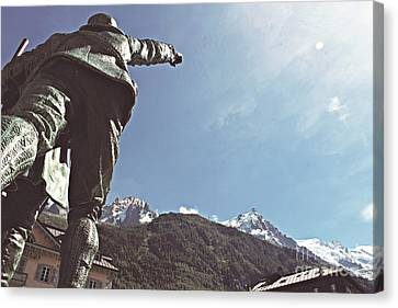 Canvas Print featuring the photograph This Way To The Aiguille Du Midi by Cendrine Marrouat
