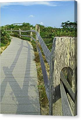 This Way To The Beach Canvas Print by Barbara McDevitt
