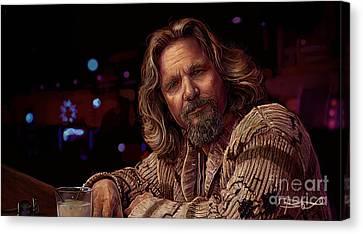 Jeff Bridges Canvas Print - This Will Stand Man by Bas De Voogt