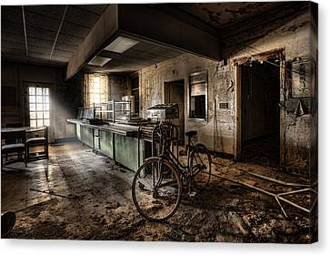 This Would Be The End - Cafeteria - Abandoned Asylum Canvas Print by Gary Heller